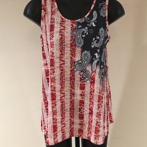 Paisley American Flag Shirt